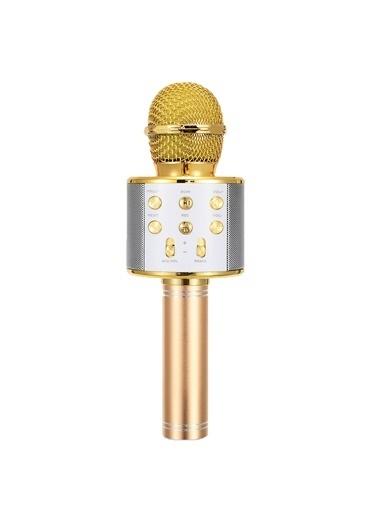 Microsonic Karaoke Bluetooth Mikrofon Gold Altın